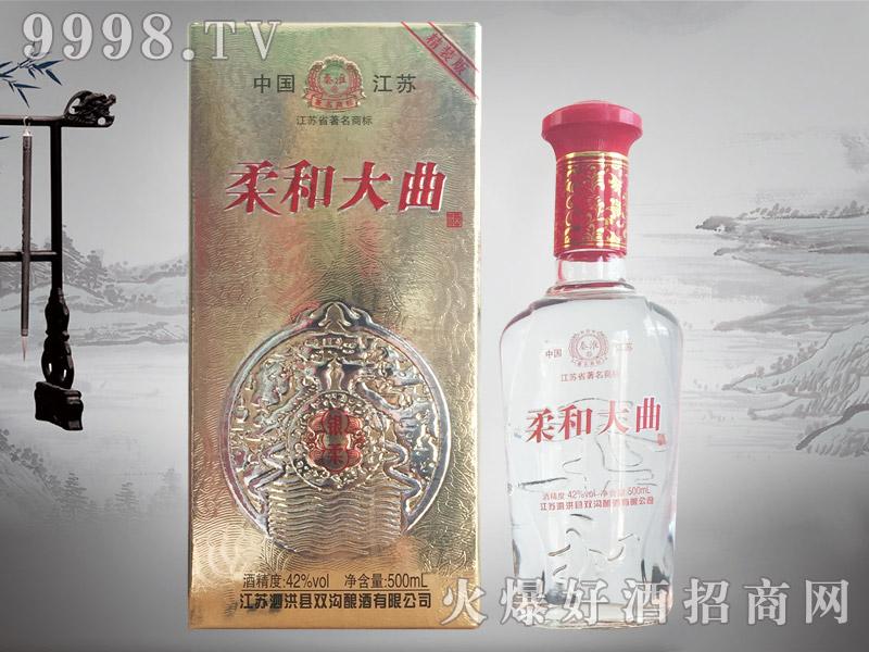秦淮柔和大曲酒银柔42°500ml浓香型白酒
